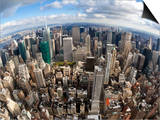 Manhattan View from the Empire State Building, New York City, New York, United States of America, N Posters by Gavin Hellier