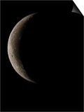 Waning Crescent Moon Art by Eckhard Slawik