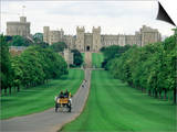 The Long Walk and Windsor Castle, Windsor, Berkshire, England, United Kingdom Posters by Adam Woolfitt