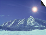 The Flatirons Near Boulder, CO, Winter Kunstdrucke von Chris Rogers