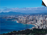 Aerial View of Oahu, Honolulu, HI Prints by Barry Winiker