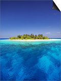 Tropical Island and Lagoon in Maldives, Indian Ocean, Asia Print by Sakis Papadopoulos