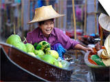 Local Women Share a Joke at Damnoen Saduak Floating Market, Thailand, Southeast Asia Prints by Andrew Mcconnell