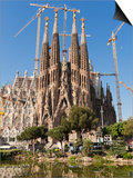 La Sagrada Familia by Antoni Gaudi, UNESCO World Heritage Site, Barcelona, Catalonia, Spain, Europe Print by Sergio Pitamitz