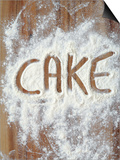 Word Cake in Flour Prints by Neil Overy