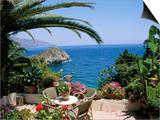 Mazzaro Beach, Taormina, Island of Sicily, Italy, Mediterranean Posters by J Lightfoot