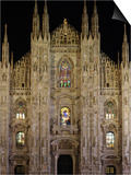 Duomo at Night, Milan, Lombardy, Italy, Europe Posters by Vincenzo Lombardo