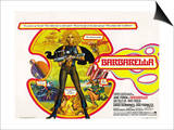 Barbarella, UK Movie Poster, 1967 Prints