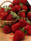 Strawberries in a Basket Poster by Jan Kassay