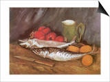 Still Life with Mackerel, 1886 Posters by Vincent van Gogh