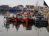 Fishing Boats, Howth Harbour, County Dublin, Republic Ireland, Europe Prints by David Lomax