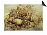 The Battle of Anghiari, 1500 Posters by  Leonardo da Vinci