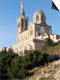 Notre Dame De La Garde, Marseille, Bouches-Du-Rhone, Provence, France Posters by Guy Thouvenin