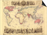 British Empire World Map, 19th Century Prints by Library of Congress