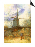 The Windmill, 1886 Prints by Vincent van Gogh