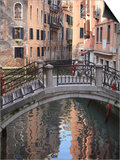 A Quiet Canal, Venice, UNESCO World Heritage Site, Veneto, Italy, Europe Print by Amanda Hall