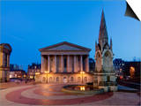 Chamberlain Square at Dusk, Birmingham, Midlands, England, United Kingdom, Europe Posters by Charles Bowman