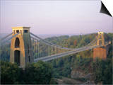Clifton Suspension Bridge, Built by Brunel, Bristol, Avon, England, United Kingdom (U.K.), Europe Prints by Rob Cousins