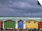 Beach Huts, Muizenberg, Cape Peninsula, South Africa, Africa Poster by Steve & Ann Toon