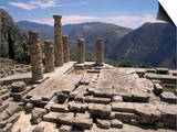 Temple of Apollo, Delphi, Unesco World Heritage Site, Greece Prints by Ken Gillham