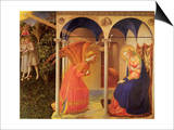 The Annunciation, 1400 Print by  Fra Angelico