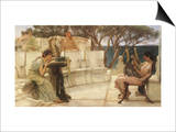 Sappho and Alcaeus, 1880 Prints by Sir Lawrence Alma-Tadema