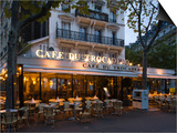 Chairs and Tables in a Restaurant at Dawn, Cafe Du Trocadero, Paris, Ile-De-France, France Prints by Green Light Collection