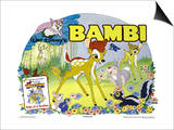 Bambi, UK Movie Poster, 1942 Prints