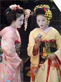 Geisha, Maiko (Trainee Geisha) in Gion, Kyoto City, Honshu, Japan Posters by Christian Kober