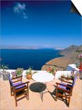 Fira, Island of Santorini (Thira), Cyclades Islands, Aegean, Greek Islands, Greece, Europe Prints by Sergio Pitamitz