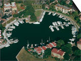 Aerial View of Hilton Head Harbour Town, South Carolina, USA Posters by Kim Hart