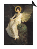 Winged Figure Seated Upon a Rock, 1900 Posters by Abbott Handerson Thayer