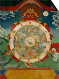 Wheel of Life, Tibetan Art, China Prints by Doug Traverso