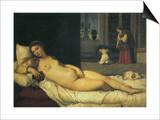 Reclining Venus, 1538 Print by  Titian