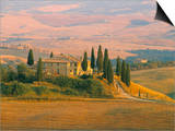 Sunset Near San Quirico D'Orcia, Val D'Orcia, Siena Province, Tuscany, Italy, Europe Prints by Sergio Pitamitz
