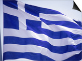 Flag of Greece Prints by Barry Winiker