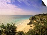 Caribbean Sea, Tulum, Yucatan, Mexico Prints by Walter Bibikow