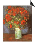 Vase of Poppies, 1886 Posters by Vincent van Gogh