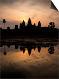 Sunrise over Angkor Wat Prints by Ben Pipe