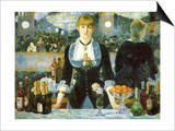 Bar at the Folies-Bergère, 1881 Posters