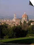 City Skyline from Boboli Gardens, Florence, Tuscany, Italy Prints by Roy Rainford