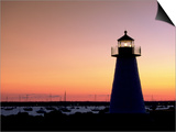 Lighthouse at Sunset, Mattapoisett, MA Prints by James Lemass
