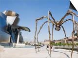 The Guggenheim, Designed by Architect Frank Gehry, and Giant Spider Sculpture by Louise Bourgeois Prints by Christian Kober