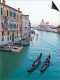 Grand Canal, Venice, UNESCO World Heritage Site, Veneto, Italy, Europe Prints by Amanda Hall
