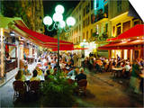 Open Air Cafes and Restaurants, Nice, Cote d'Azure, Provence, France, Europe Print by Walter Rawlings