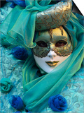 Masked Figure in Costume at the 2012 Carnival, Venice, Veneto, Italy, Europe Art by Jochen Schlenker