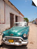 Old 1950S Car, Remedios, Cuba, West Indies, Central America Prints by Michael DeFreitas