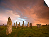 Standing Stones of Callanish, Callanish, Near Carloway, Isle of Lewis, Outer Hebrides, Scotland Print by Lee Frost