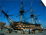Hms Victory in Dock at Portsmouth, Hampshire, England, United Kingdom, Europe Prints by Nigel Francis