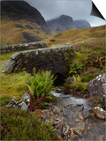 A View of the Three Sisters of Glencoe from the Military Road, Glencoe, Argyll, Scotland, United Ki Print by Jon Gibbs